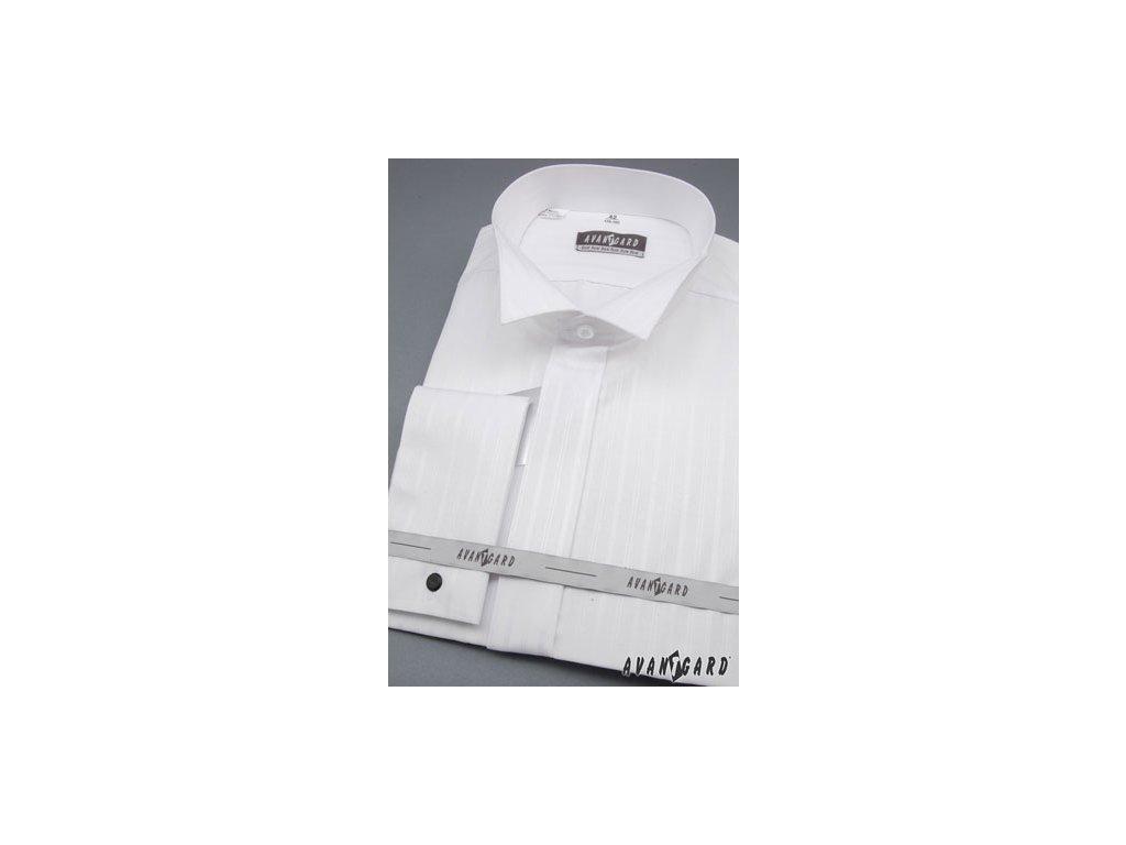 Pánská bílá svatební košile - FRAKOVKA f90a6743a9