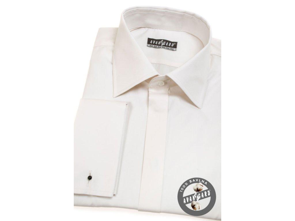 Pánská košile AVANTGARD LUX MK 517-206 Smetanová (Barva Smetanová 4e0eebf0c5
