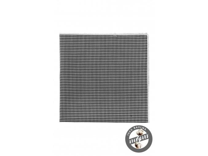 Černobílý kapesníček do saka s puntíky