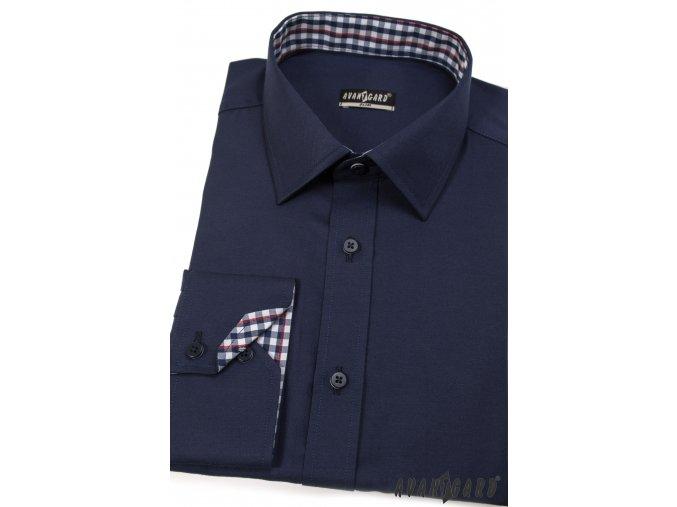Tmavě modrá SLIM FIT košile, dl. rukáv, 125-3107