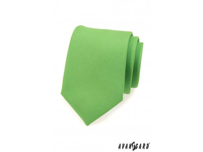 Zelená luxusní jednobarevná kravata