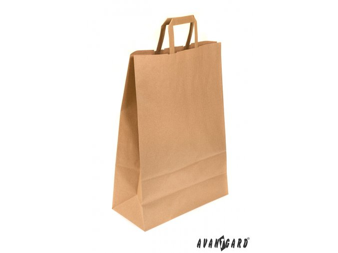 Hnědá papírová taška_