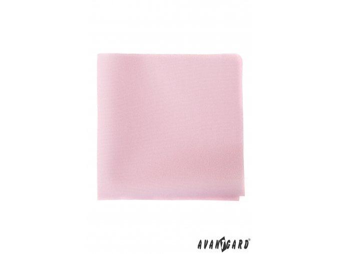 Růžový kapesníček bez vzoru