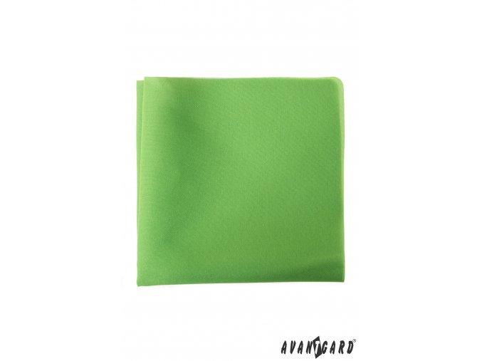 Sytě světle zelený kapesníček do saka
