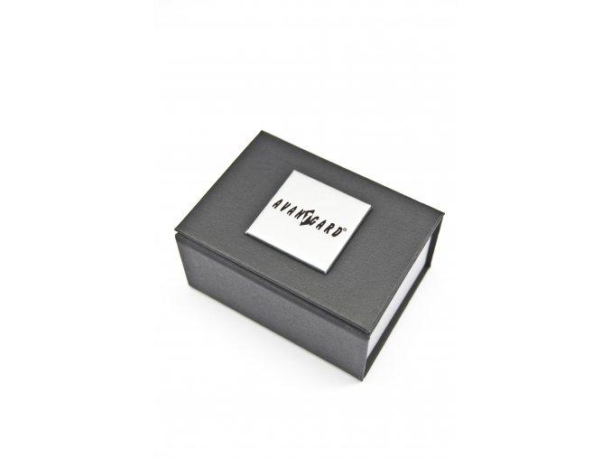 Stříbrné manžetové knoflíčky s černými hodinami (17 mm)