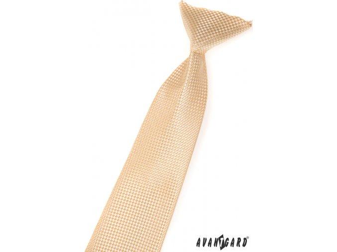 Světle béžová vzorovaná dětská kravata