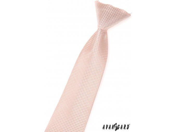 Lososová vzorovaná dětská kravata