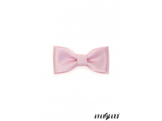 Světle růžový MINI jednobarevný motýlek