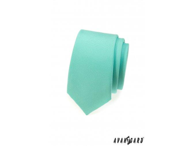 Mátová jednobarevná matná SLIM kravata