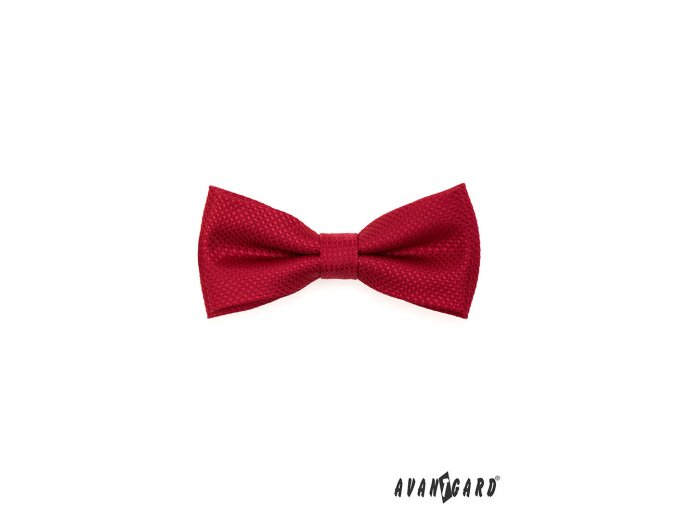 Červený motýlek se vzorem stejné barvy + kapesníček
