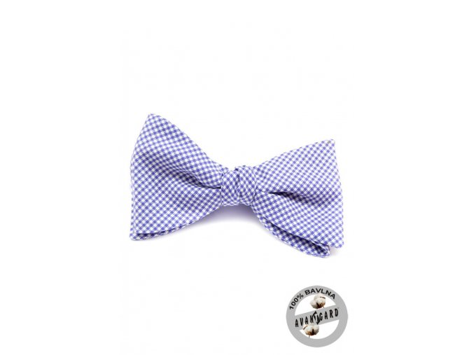 Vázací motýlek bavlněný 603-5014 Modrá (Barva Modrá, Velikost uvázaný cca 12 cm, Materiál 100% bavlna)