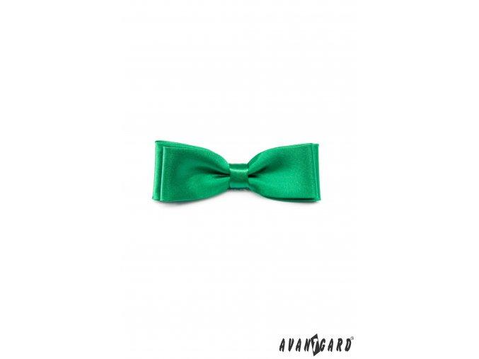 Sytě zelený jednobarevný motýlek (10 cm)
