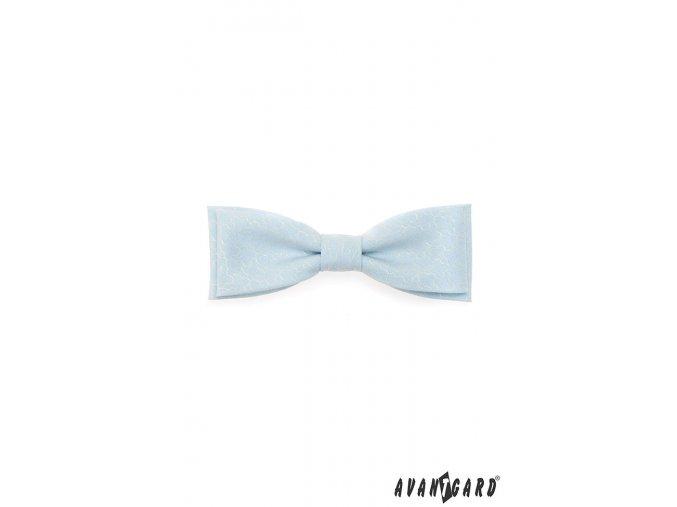 Motýlek KLASIK 576-5069 Modrá (Barva Modrá, Velikost 10 cm, Materiál 100% bavlna)