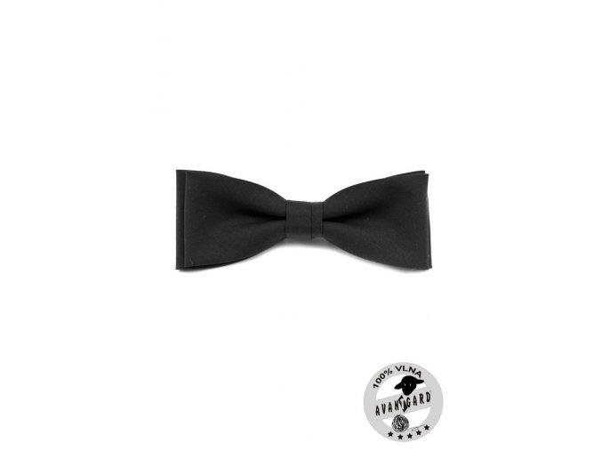Motýlek PREMIUM vlněný 606-23 Černá (Barva Černá, Velikost 12,5 cm, Materiál 100% vlna)