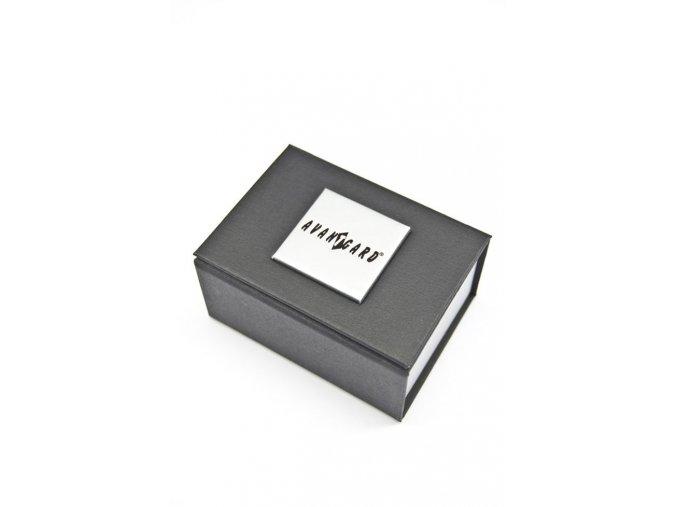 Stříbrné manžetové knoflíčky s vyrytou mřížkou