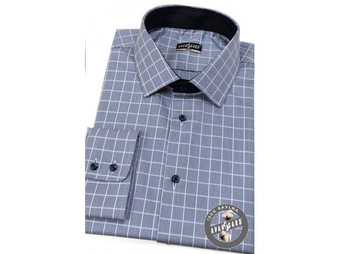 Modrá pánská SLIM FIT košile, dl. rukáv, 109-1512_