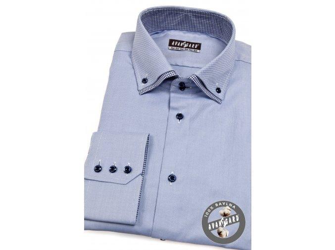 Světle modrá pánská košile, dl.rukáv, 520-1516_