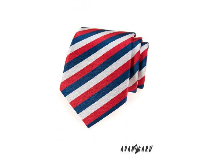 Luxusní kravata trikolóra