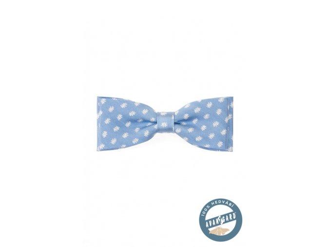 Motýlek hedvábný PREMIUM 596-7702 Modrá (Barva Modrá, Velikost 12,5 cm, Materiál 100% hedvábí)