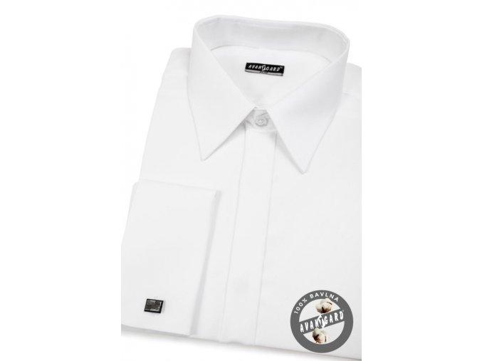 Pánská košile SLIM kr.léga, MK 160-001 Bílá (Barva Bílá, Velikost 46/182, Materiál 100% bavlna)