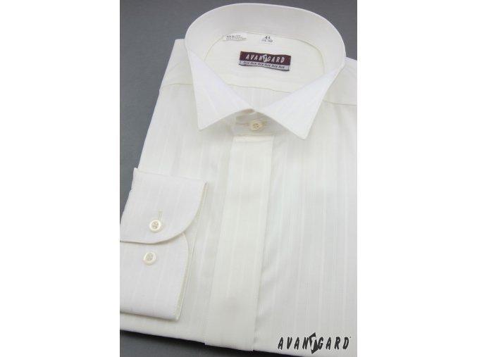 Pánská smetanová svatební košile - FRAKOVKA 663-90017