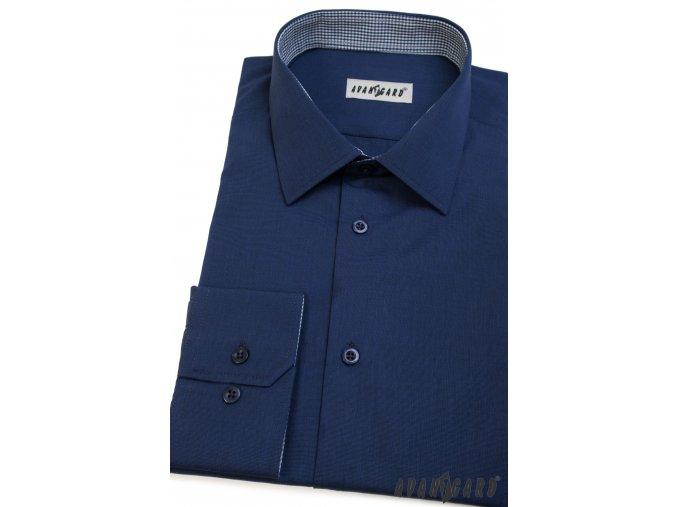 Modrá pánská košile, dl. rukáv, 511-3102