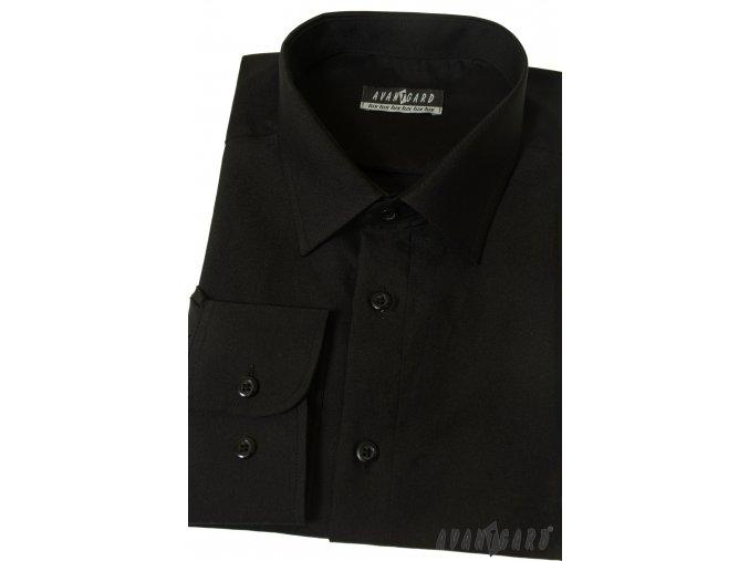 Černá pánská košile, dl. rukáv, 511-23_