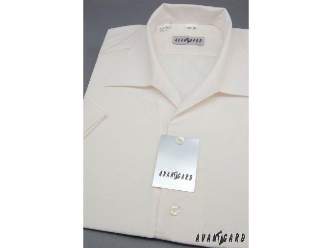 Pánská košile s rozhalenkou, kr.rukáv 456-2 V2-smetanová (Barva V2-smetanová, Velikost 38/182, Materiál 55% bavlna a 45% polyester)