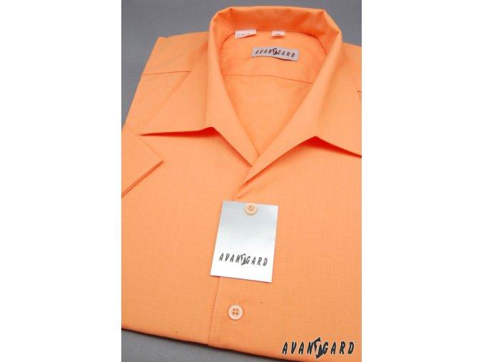 Pánská oranžová košile rozhalenka 456-10
