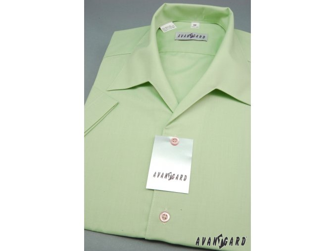 Pánská zelená košile s rozhalenkou 456-8
