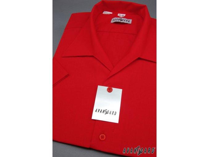 Pánská červená košile s rozhalenkou 456-12