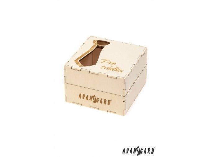 Dřevěná dárková krabička - Pro svědka