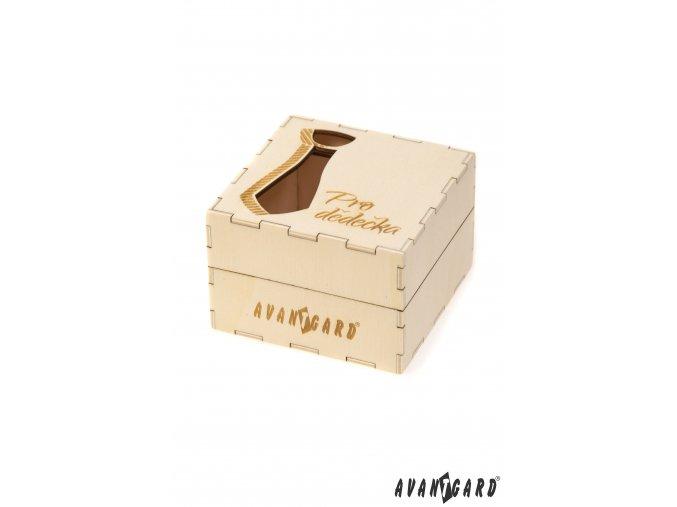 Dřevěná dárková krabička - Pro dědečka
