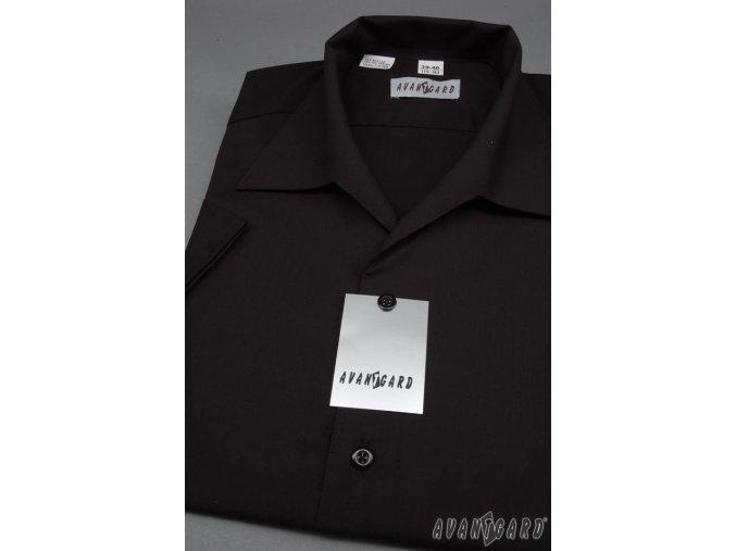 Pánská černá košile s rozhalenkou 456-23