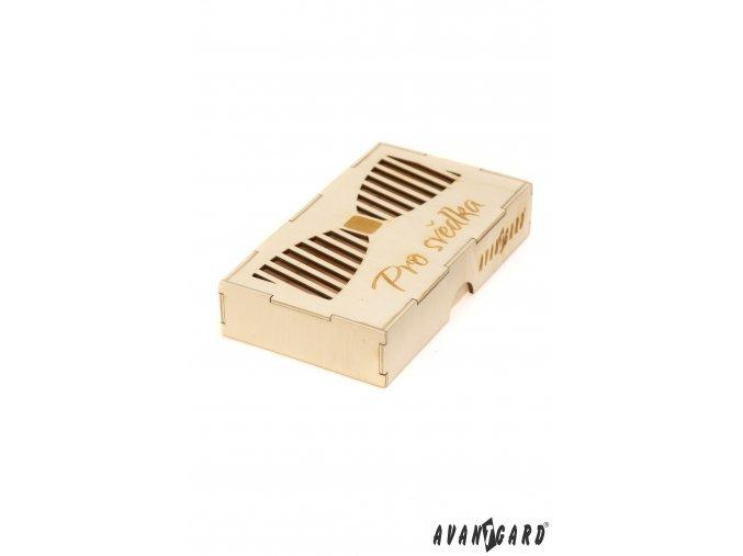 Dřevěná krabička na motýlka - Pro svědka