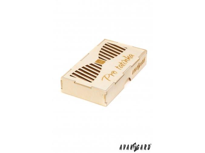 Dřevěná krabička na motýlka - Pro tatínka