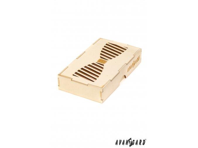 Dřevěná dárková krabička na motýlka