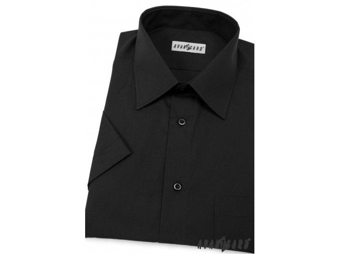 Pánská černá košile KLASIK 351-23