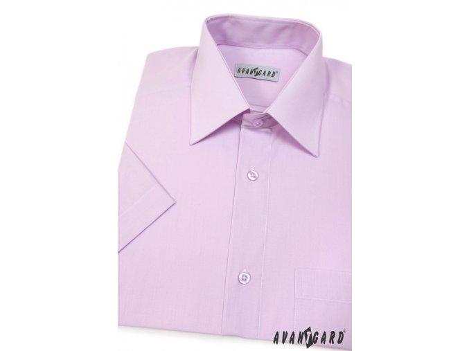 Pánská košile KLASIK s kr.ruk. 351-33 V33-lila (Barva V33-lila, Velikost 40/182, Materiál 55% bavlna a 45% polyester)