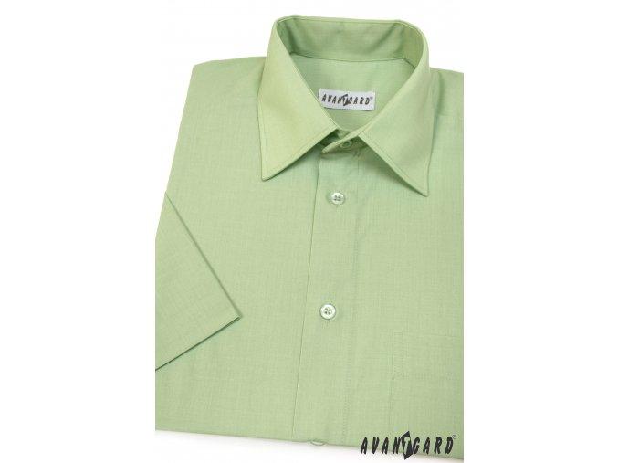 Pánská světle zelená košile KLASIK 351-8