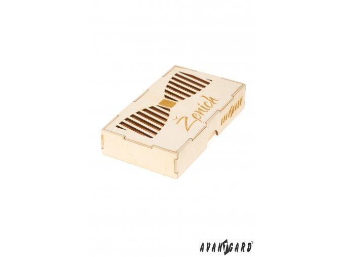 Dřevěná krabička na motýlka - Ženich
