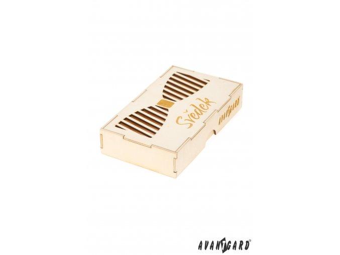 Dřevěná krabička na motýlka - Svědek