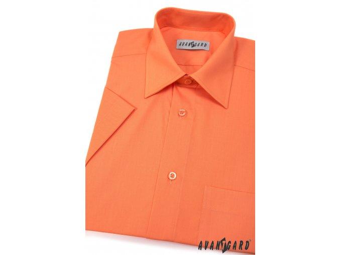 Pánská oranžová košile KLASIK 351-10