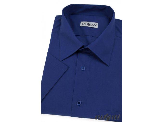 Pánská košile KLASIK s kr.ruk. 351-18 V18-královská modř (Barva V18-královská modř, Velikost 45/182, Materiál 55% bavlna a 45% polyester)