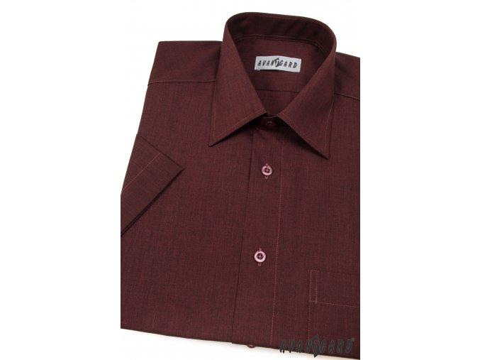 Pánská bordó košile KLASIK 351-28