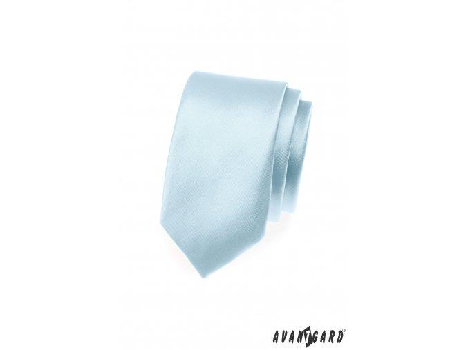 Blankytně modrá slim kravata