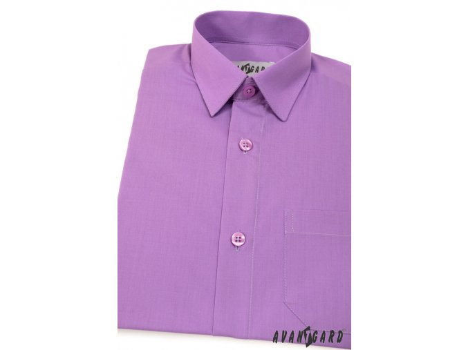 Chlapecká košile KLASIK 468-38 V38-fialová (Barva V38-fialová, Velikost 98, Materiál 55% bavlna a 45% polyester)