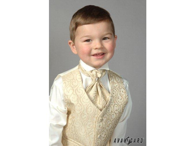 Chlapecká košile FRAKOVKA 460-2 V2-smetanová (Barva V2-smetanová, Velikost 98, Materiál 55% bavlna a 45% polyester)