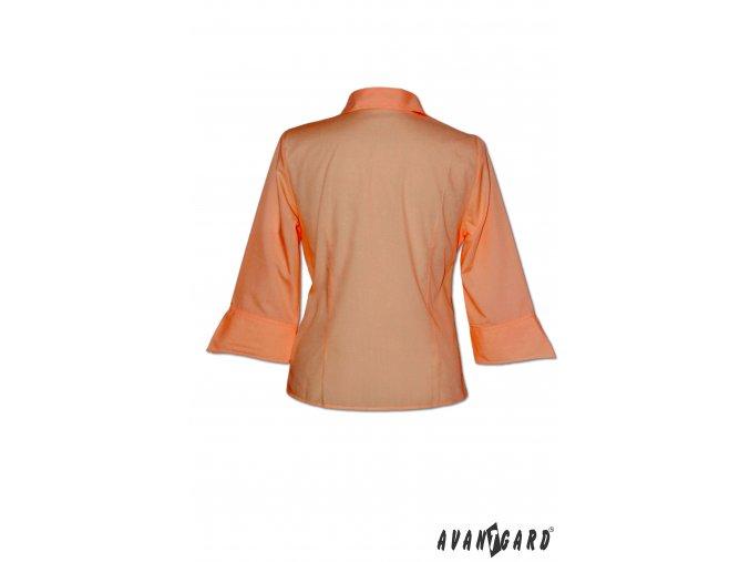 Dámská oranžová halenka SOFT 3/4 rukáv 753-10