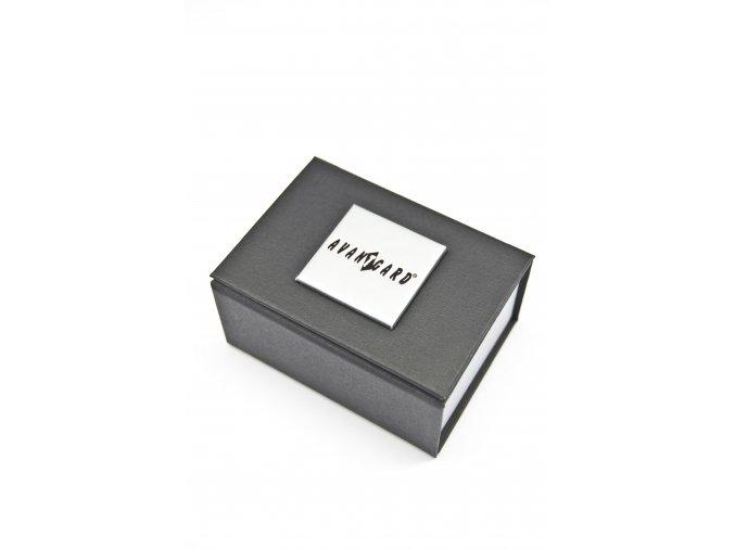 Stříbrné manžetové knoflíčky s tmavými pruhy